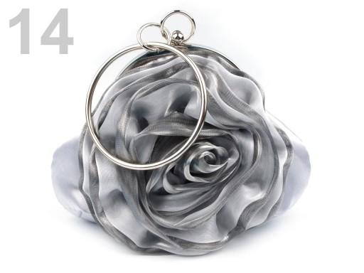 Stoklasa Slavnostní kabelka ROSE satén - 14 stříbrná