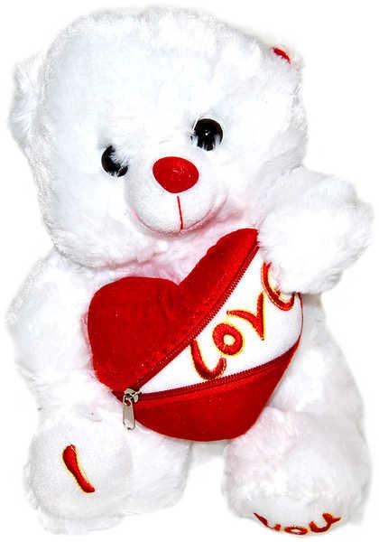 _Ostatní 1_ PLYŠ Medvídek se srdcem na zip Love 30 cm - dle obrázku