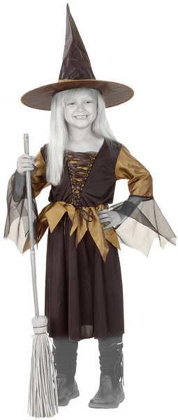 _Ostatní 1_ KARNEVAL Šaty ČARODĚJNICE vel. L (130-140 cm) 8-10 let KOSTÝM