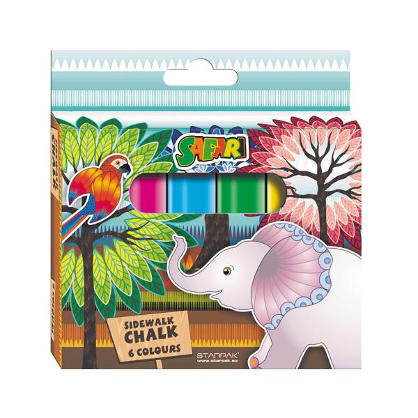 Rappa Křídy barevné Safari 6 ks