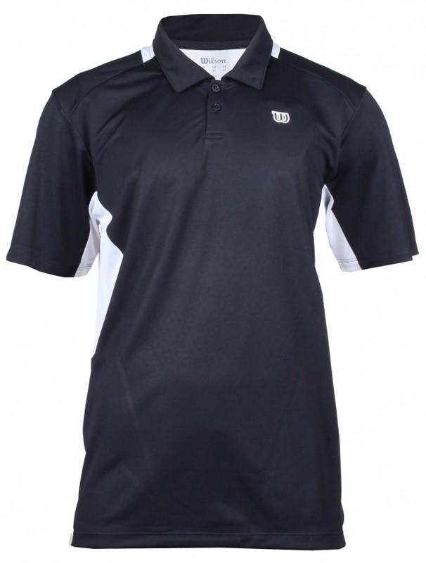 Wilson Great Get Polo WR1024710 pánské triko - černá/bílá - S