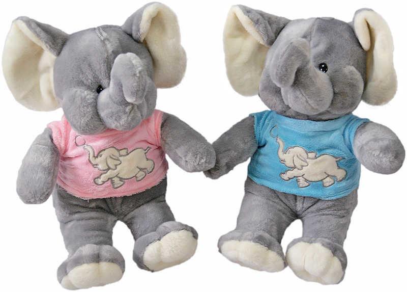 Mix hračky Slon v triku 31 cm 2 barvy
