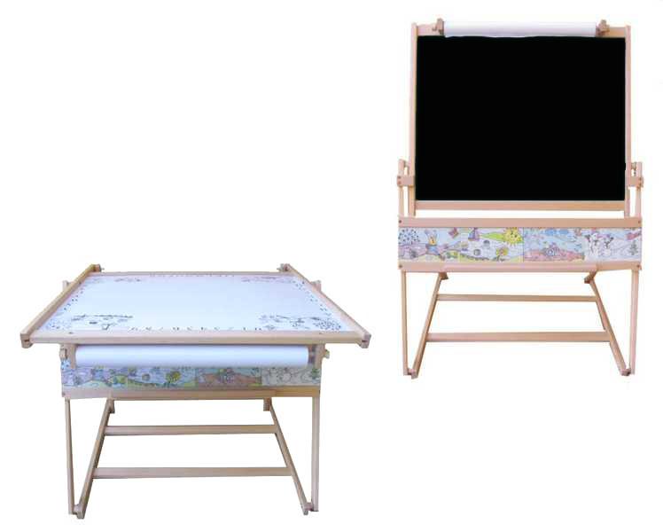 Mix hračky Dětská školní tabule FILIP II. na křídu fix s papírem + stolek MAGNETICKÁ