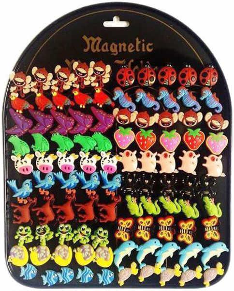 _Ostatní 1_ Dětské magnetky jednotlivé 20 druhů Zvířecí motivy 2 cm na magnetické tabuli