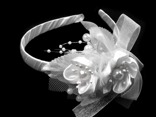 Stoklasa Čelenka s květinami - bílá