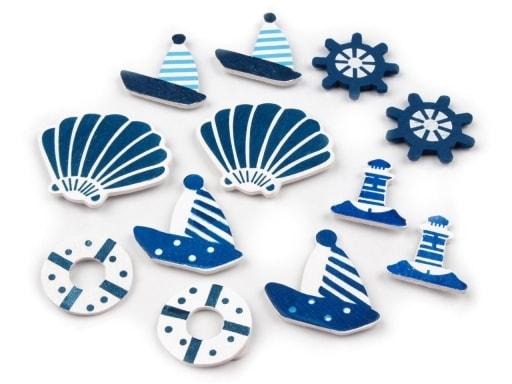 Stoklasa Samolepící dřevěná dekorace - moře - modrá delta