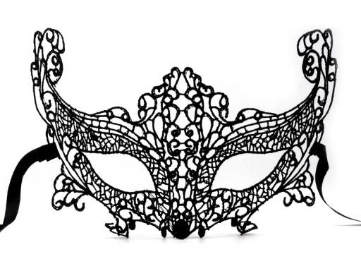 Stoklasa Karnevalová maska - škraboška krajková - černá