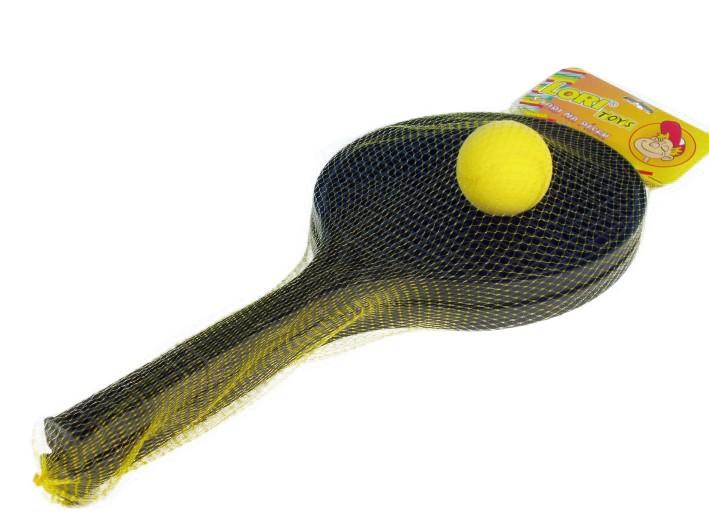Rappa Soft tenis černý + míček