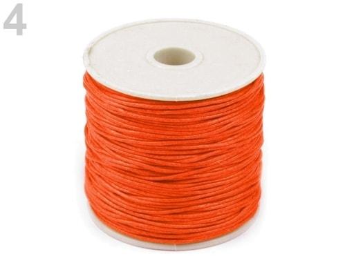 Stoklasa Šňůra bavlněná Ø0,8 mm voskovaná - 4 oranžová