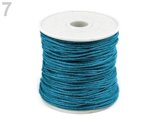 Stoklasa Šňůra bavlněná Ø0,8 mm voskovaná - 7 modrá azuro
