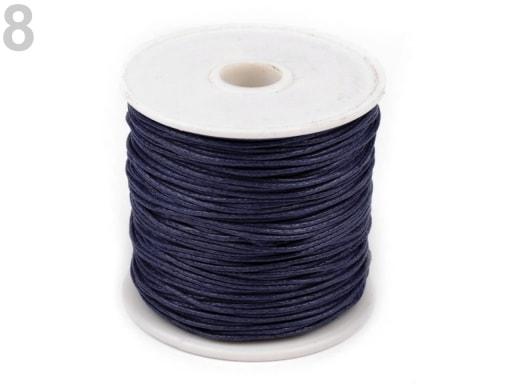 Stoklasa Šňůra bavlněná Ø0,8 mm voskovaná - 8 modrá delta