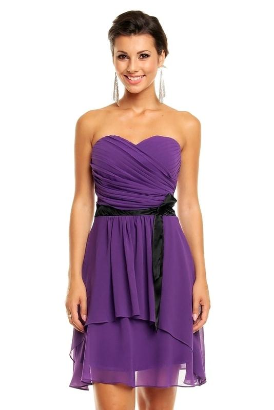 Mayaadi Společenské šaty fialové hs-sa492fi - dle obrázku - 42