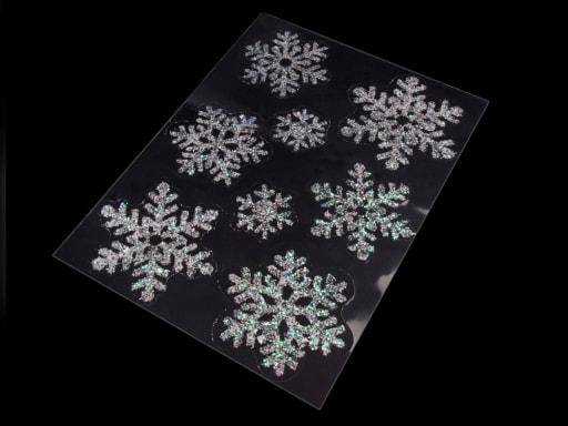Stoklasa Samolepící dekorace vločky na sklo - bílá AB