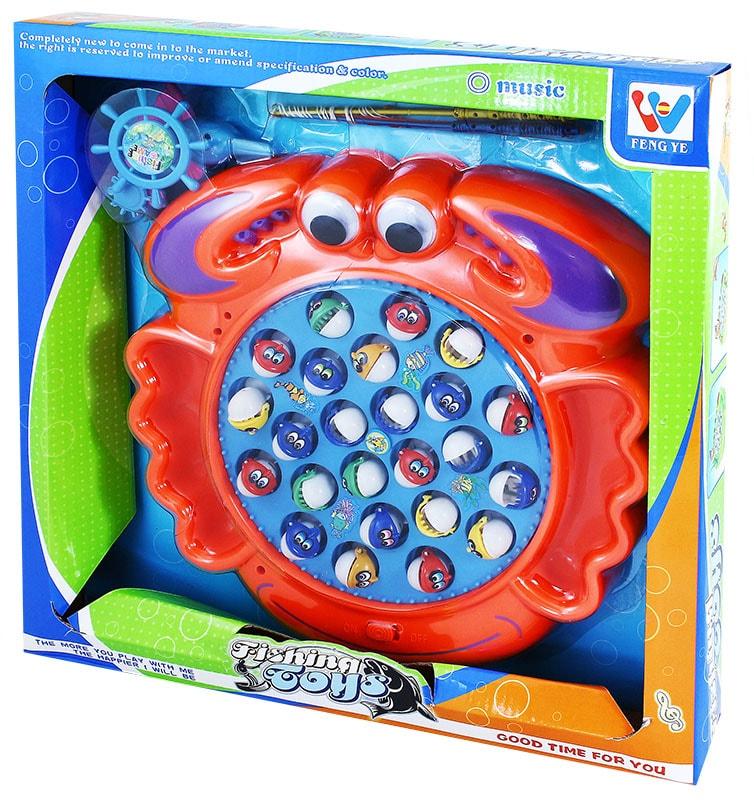 Rappa Hra rybičky krab na baterie - dle obrázku