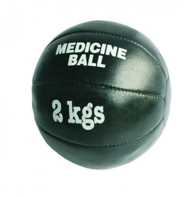 Merco Míč medicinální Black Leather pravá kůže ručně šitý - od 1 ks - 4 kg