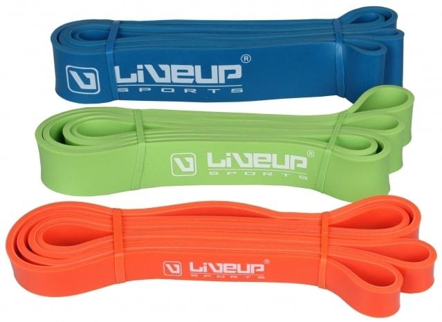 LiveUp Aerobic guma posilovací guma 100x0 5cm - modrá - S