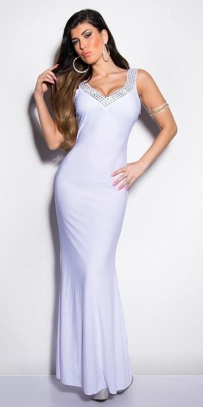Koucla Bílé plesové šaty in-sat1032wh - dle obrázku - M