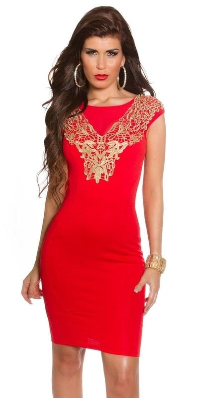 Koucla Červené dámské šaty in-sat1155re - dle obrázku - 36