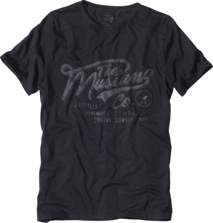 MUSTANG Pánské tričko 5506_2100.400 - černá - S