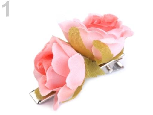 Stoklasa Sponka do vlasů růže - 1 růžová sv.