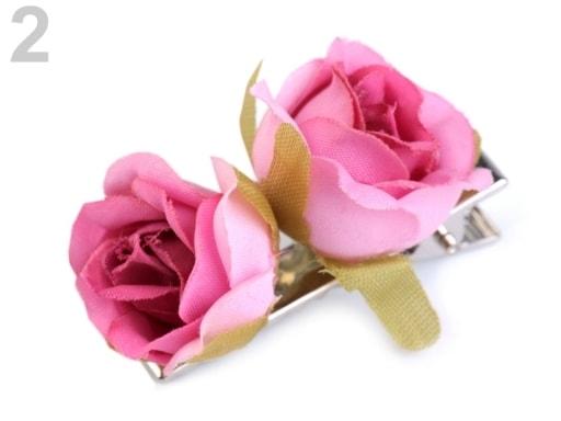 Stoklasa Sponka do vlasů růže - 2 růžový oleandr