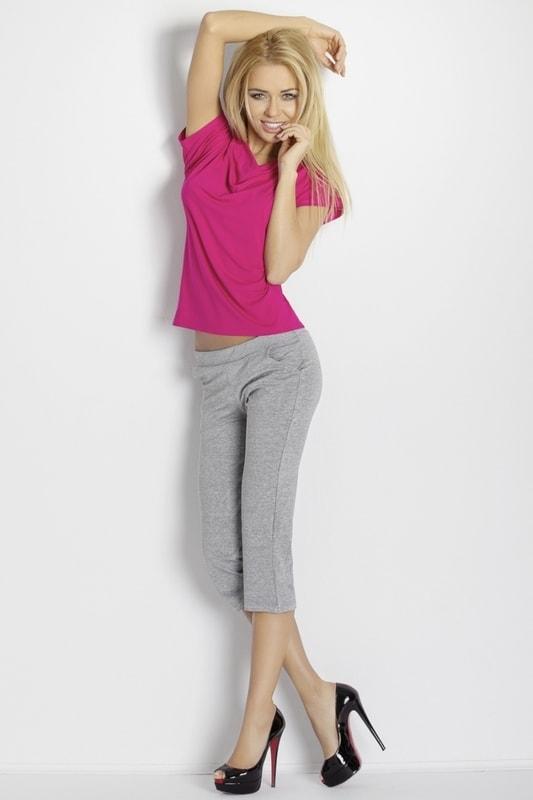 DKaren Dámské pyžamo Erna pink-grey - růžová - L