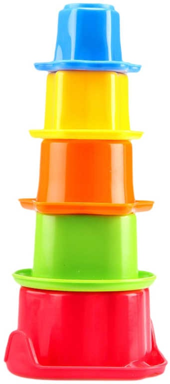 _Ostatní 1_ Pyramida kalíšky vkládací baby formičky na písek do vody set 5ks v krabičce - dle obrázku