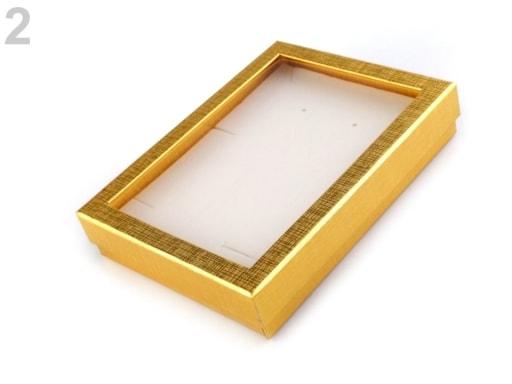 Stoklasa Krabička s průhledem polstrovaná 12x16 cm - 2 zlatá