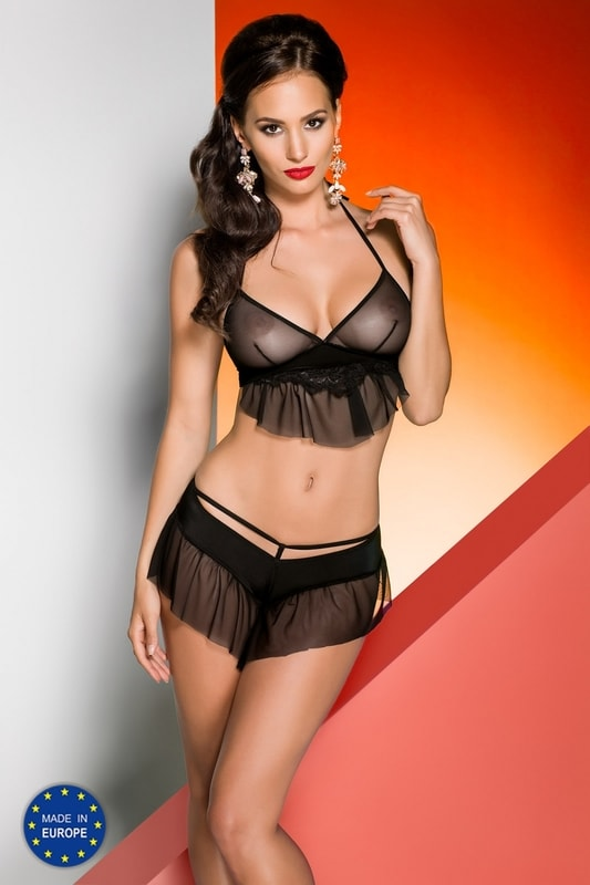 Avanua Erotická souprava Loretta set - černá - L/XL