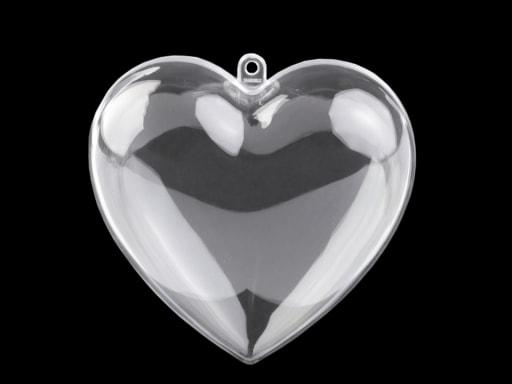 Stoklasa Plastová krabička srdce 100x100 mm dvoudílné - transparent
