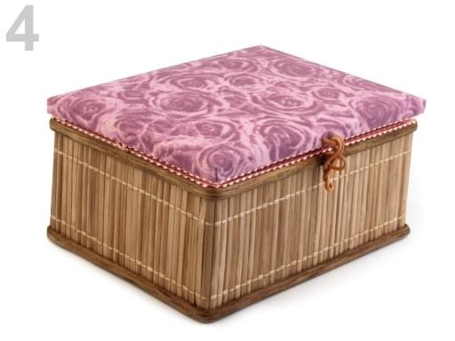 Stoklasa Kazeta na šicí potřeby - 4 růžová baroko