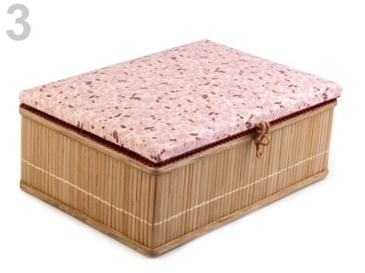 Stoklasa Kazeta na šicí potřeby - 3 růžová lasturová