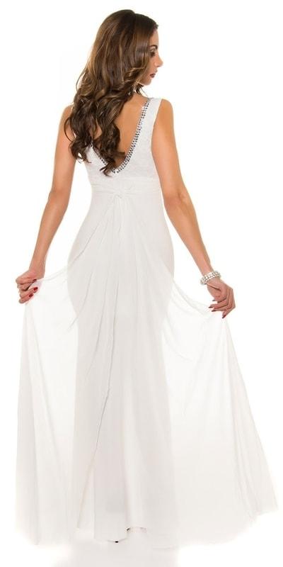 Koucla Plesové šaty s vlečkou in-sat1206wh - dle obrázku - XL
