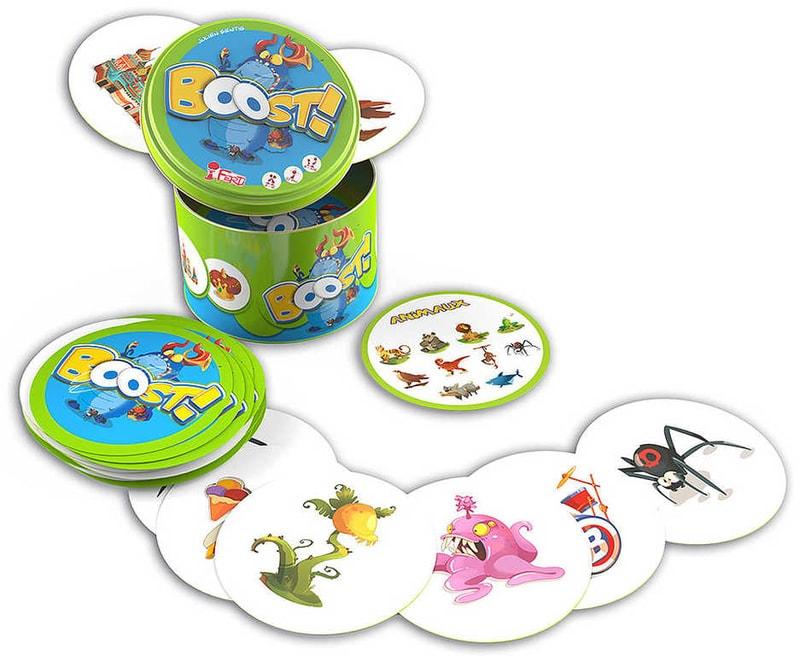 Mix hračky Hra karetní postřehová Boost! v plechové krabičce