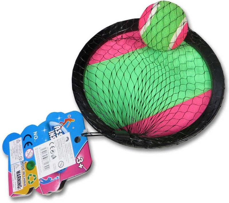 _Ostatní 1_ Catch ball set s 2 talíře s míčkem na suchý zip v síťce