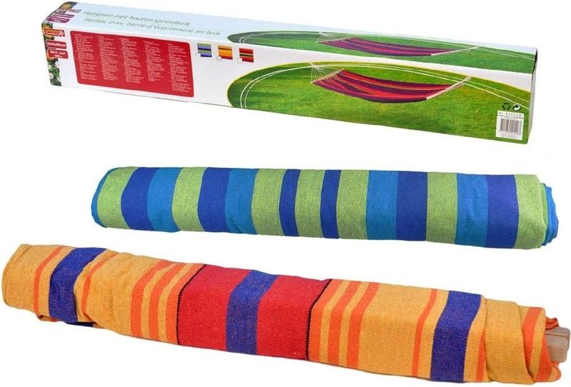 Mix hračky Síť houpací dětská 200x80cm závěsná pruhovaná 3 barvy nosnost 100kg