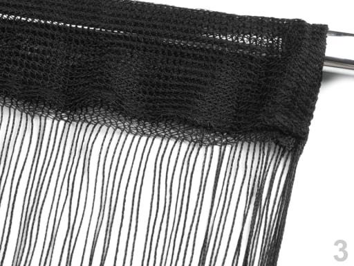 Stoklasa Provázková záclona 100x200cm CORTINA - 3 černá