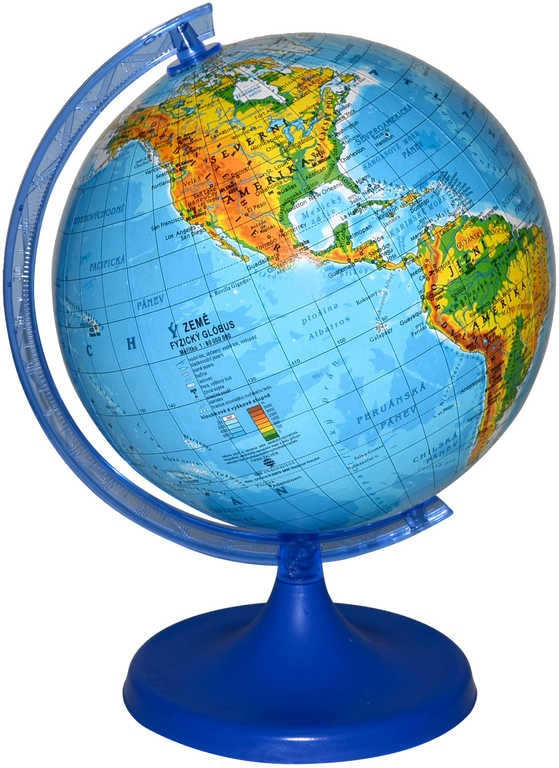 Mix hračky Globus zeměpisný plastový mapa světa 22cm velký v sáčku