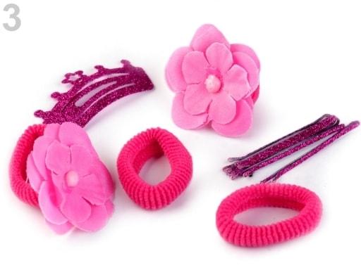 Stoklasa Ozdoby do vlasů sada - 3 růžová