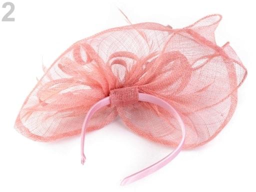 Stoklasa Fascinátor čelenka - 2 růžová prášková