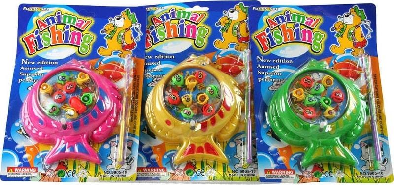 _Ostatní 1_ Hra Rybičky dětský plastový RYBOLOV set 9 rybiček s prutem - dle obrázku