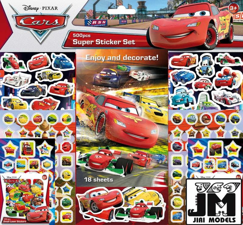 Mix hračky Samolepkový set 500ks Cars Auta
