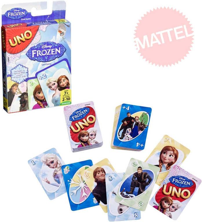 Mattel HRA Uno karty Frozen Ledové Království