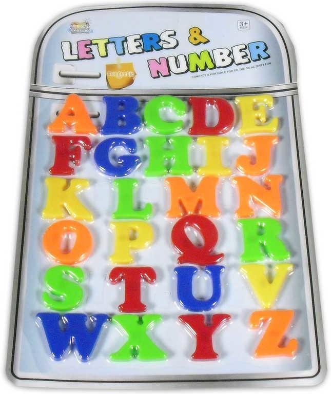 _Ostatní 1_ Písmenka barevná abeceda dětská magnetická sada 26ks na kartě