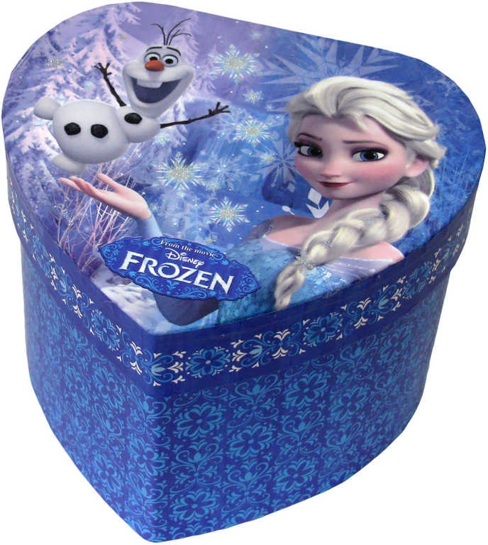 Mix hračky Šperkovnice dětská modrá srdce se zrcátkem Frozen Ledové Království - dle obrázku
