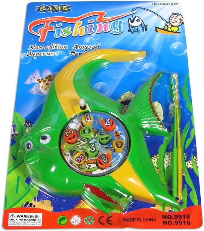 _Ostatní 1_ Hra rybičky dětský magnetický rybolov set s udicí na kartě 2 druhy plast - dle obrázku
