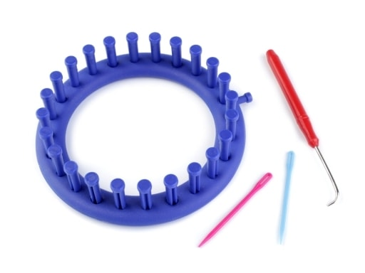 Stoklasa Sada na pletení kruh Ø14 cm - modrá safírová