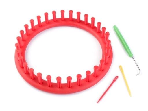 Stoklasa Sada na pletení kruh Ø19 cm - červená