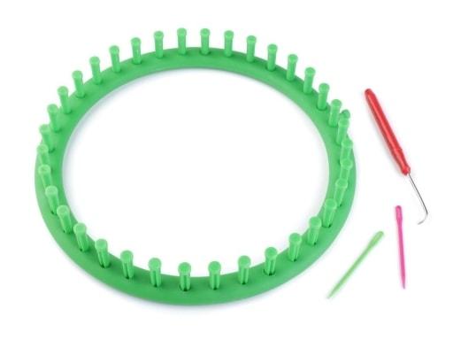Stoklasa Sada na pletení kruh Ø24 cm - zelená irská
