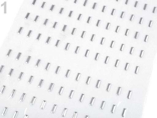 Stoklasa Kovový hot-fix na přenášecí fólii 3x10 mm - 1 stříbrná